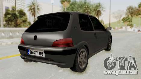 Peugeot 106 GTI Stock for GTA San Andreas left view