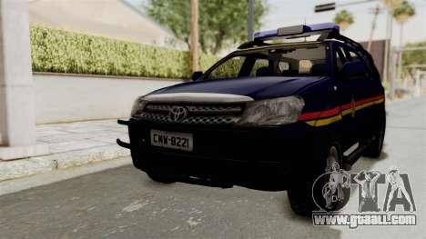 Toyota Fortuner JPJ Dark Blue for GTA San Andreas