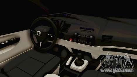Honda Civic FD6 for GTA San Andreas inner view