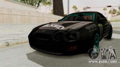 Toyota Celica GT Drift Monster Energy Falken for GTA San Andreas right view