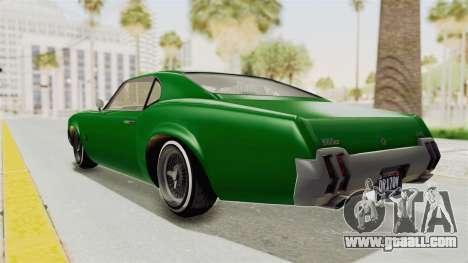 GTA 5 Declasse Sabre GT2 for GTA San Andreas left view