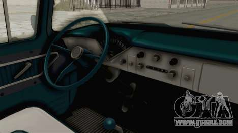 Chevrolet Apache 1958 for GTA San Andreas inner view