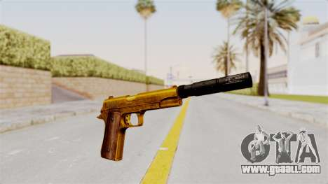 Silenced M1911 Gold for GTA San Andreas second screenshot