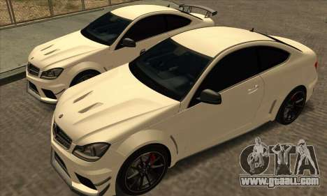 Mercedes-Benz C63 AMG Black-series for GTA San Andreas inner view