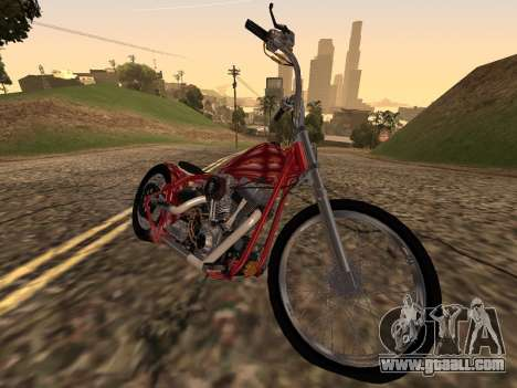 Chopper Old School for GTA San Andreas back left view