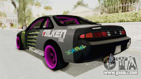 Nissan Silvia S14 Drift Monster Energy Falken for GTA San Andreas left view