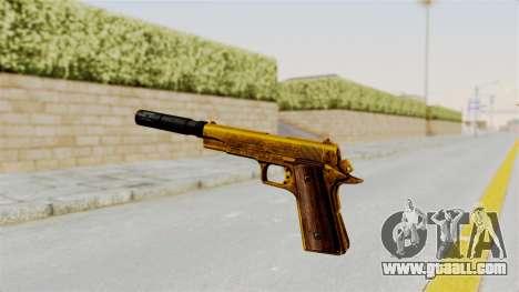 Silenced M1911 Gold for GTA San Andreas third screenshot