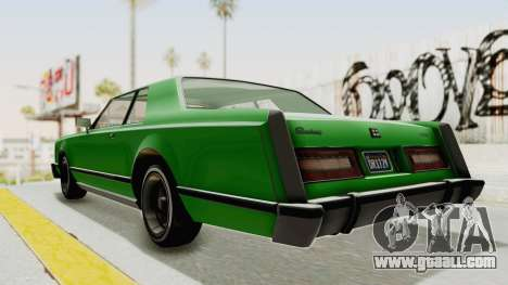 GTA 5 Dundreary Virgo Classic Custom v1 for GTA San Andreas back left view