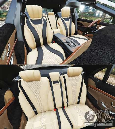 GTA 5 Mercedes-Benz S500 (W222) [yokohama] v2.1 steering wheel