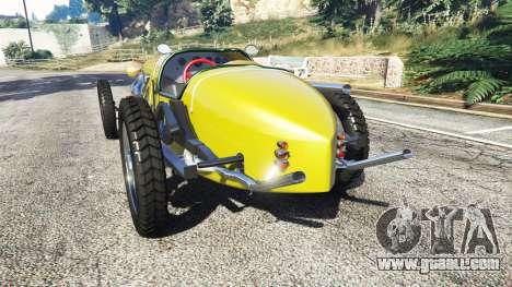 GTA 5 Fiat Mefistofele v1.2 [black tires] rear left side view