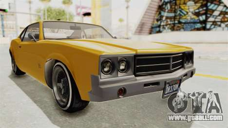 GTA 5 Declasse Sabre GT2 A IVF for GTA San Andreas right view