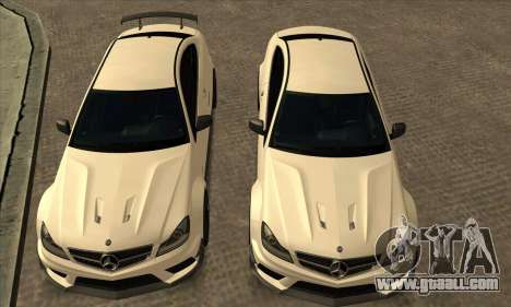 Mercedes-Benz C63 AMG Black-series for GTA San Andreas side view
