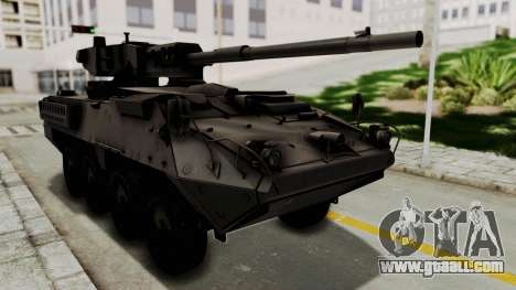 M1128 Mobile Gun System for GTA San Andreas back left view