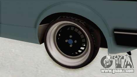 Volkswagen Golf 1 Cabrio VR6 for GTA San Andreas back view
