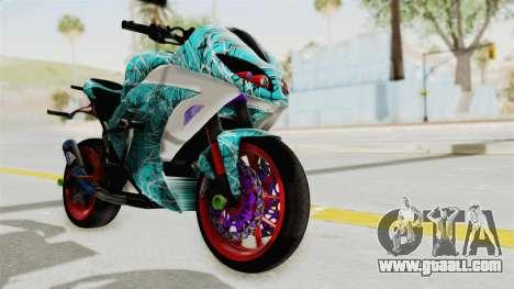 Kawasaki Ninja 250FI Stunter for GTA San Andreas right view