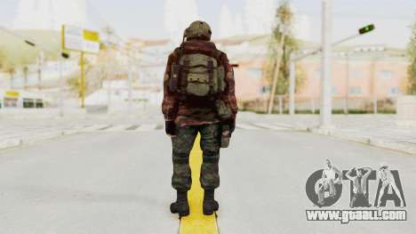 Battery Online Russian Soldier 9 v1 for GTA San Andreas third screenshot