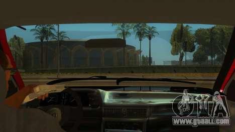 Daewoo Racer GTI for GTA San Andreas inner view