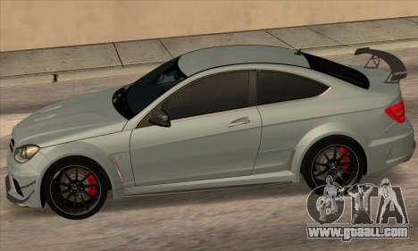Mercedes-Benz C63 AMG Black-series for GTA San Andreas right view