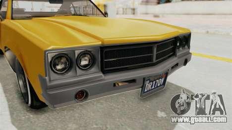 GTA 5 Declasse Sabre GT2 A IVF for GTA San Andreas side view