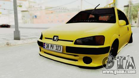 Peugeot 106 for GTA San Andreas right view