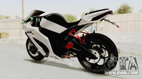 Kawasaki Ninja ZX-10R Modification for GTA San Andreas back left view