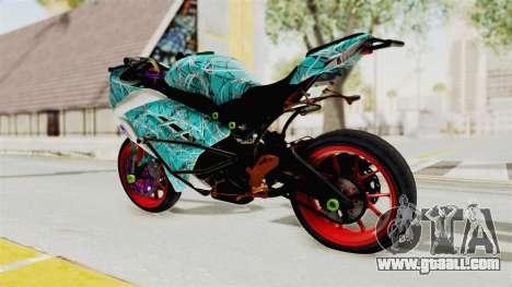 Kawasaki Ninja 250FI Stunter for GTA San Andreas left view