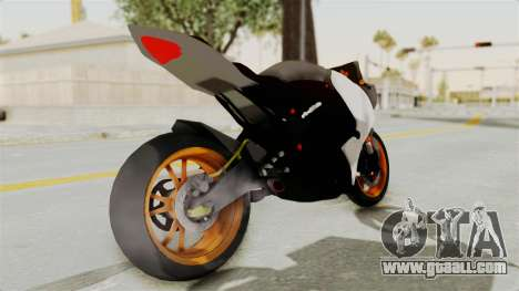 Yamaha YZF-R25 YoungMachine v2 for GTA San Andreas back left view