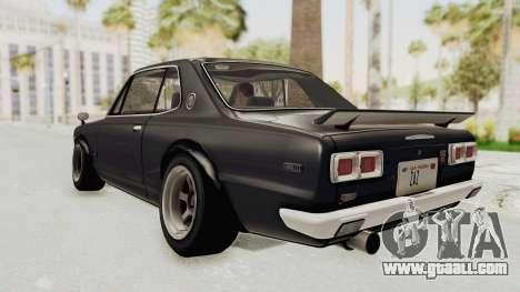 Nissan Skyline KPGC10 1971 Camber for GTA San Andreas left view