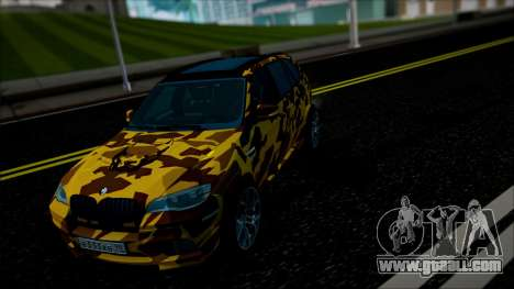 BMW X5M ( Davidich ) for GTA San Andreas inner view