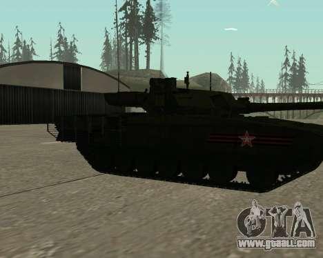 T-14 Armata for GTA San Andreas wheels