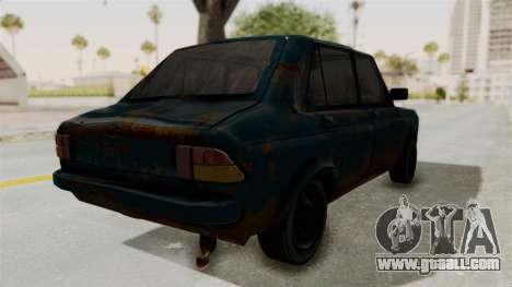 Zastava 1100 Rusty for GTA San Andreas back left view