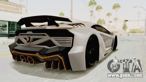 GTA 5 Pegassi Zentorno PJ for GTA San Andreas left view