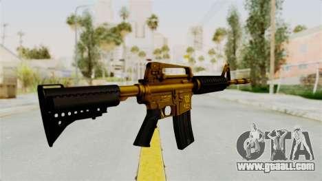 M4A1 Gold for GTA San Andreas second screenshot