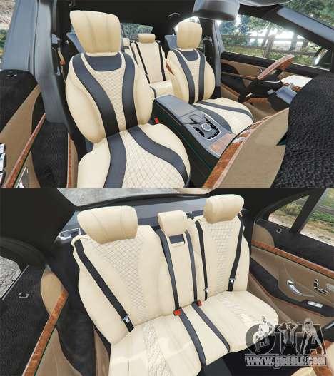 GTA 5 Mercedes-Benz S500 (W222) [michelin] v2.1 steering wheel