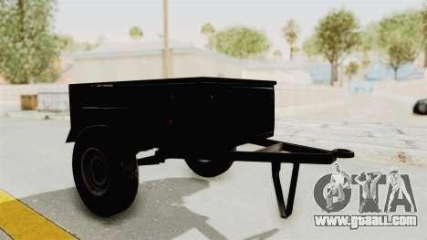 GAZ-704 Trailer for GTA San Andreas back left view