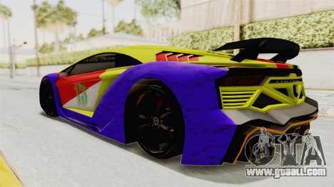GTA 5 Pegassi Zentorno PJ for GTA San Andreas upper view