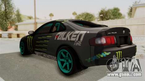 Toyota Celica GT Drift Monster Energy Falken for GTA San Andreas back left view