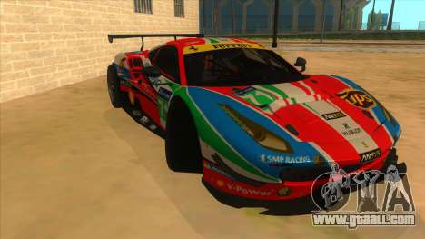 2016 Ferrari 488 GTE for GTA San Andreas back view