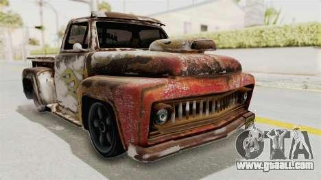 GTA 5 Slamvan Lowrider PJ2 for GTA San Andreas back view