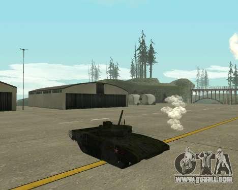 T-14 Armata for GTA San Andreas back view