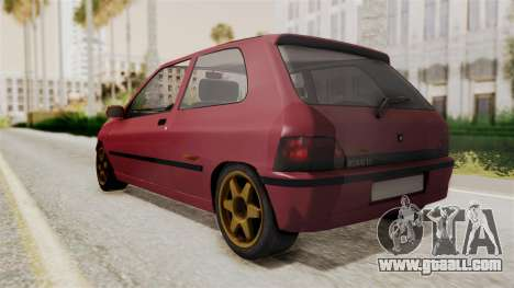 Renault Clio Williams for GTA San Andreas back left view