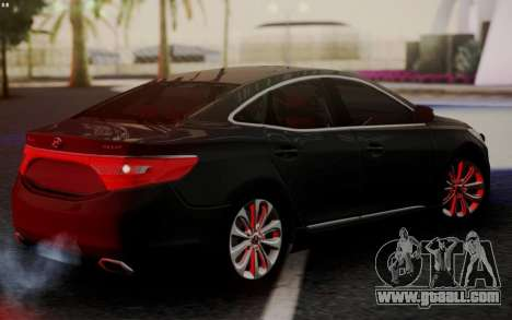 Hyundai Grandeur 2015 STOCK for GTA San Andreas back left view