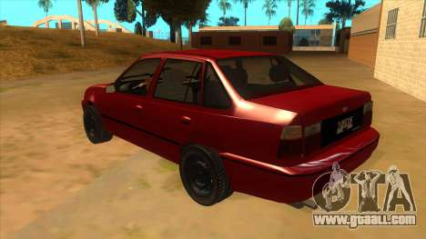 Daewoo Racer GTI for GTA San Andreas back left view