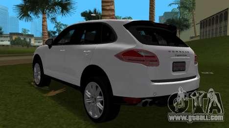 Porsche Cayenne 2012 for GTA Vice City back view