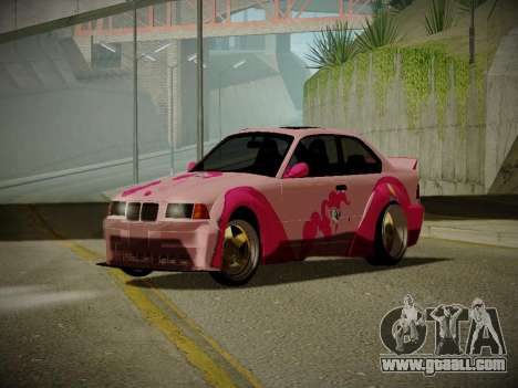 BMW M3 E36 Pinkie Pie for GTA San Andreas
