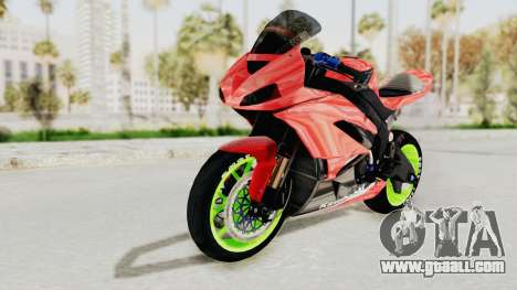 Kawasaki Ninja ZX-6R Boy from Anak Jalanan for GTA San Andreas back left view