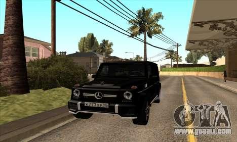 Mercedes G63 Biturbo for GTA San Andreas left view