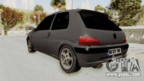 Peugeot 106 GTI Stock for GTA San Andreas back left view