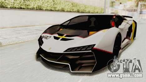 GTA 5 Pegassi Zentorno PJ for GTA San Andreas