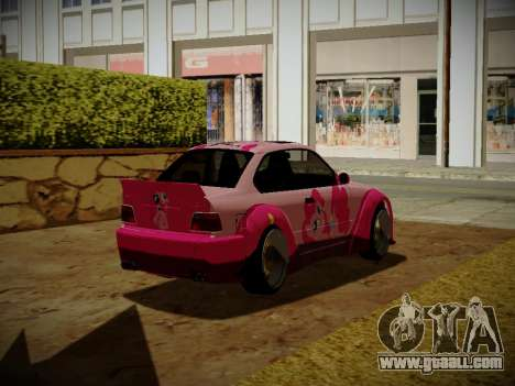 BMW M3 E36 Pinkie Pie for GTA San Andreas back left view
